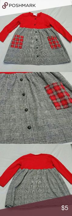 Buster Brown 4T girls dress Buster Brown 4T girls dress. Red top with black and grey bottom. It's in great condition. I usually ship same day or next Depending on time order was placed. Was originally $28.99 now only $5!! Thank you for checking out my closet!! Buster Brown Dresses Casual