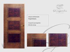 handmade wooden door_code: Copenhagen / by Georgiadis furnitures
