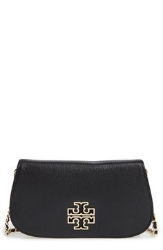 Free shipping and returns on Tory Burch 'Britten' Convertible Clutch at Nordstrom.com. Polished logo hardware takes center stage on a svelte pebbled-leather clutch furnished with an optional crossbody strap for chic styling versatility.