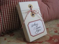 template to make a message box ... perfect for gift cards, stack of messages, or love notes.