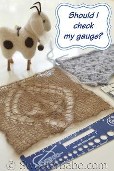 Should I check my knitting gauge?