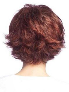 Curly Layered Bob Back View