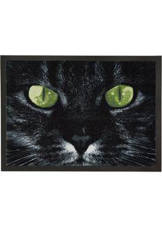 Посмотретьпрямо сейчас: Грязезащитный коврик с мотивом кошки. Черная кайма по всему периметру. Нескользящая виниловая основа. Можно стирать. Высота ворса ок. 3 мм. Все размеры указаны приблизительно.