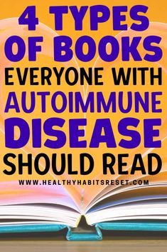 4 types of books that provide a solid foundation for holistic, autoimmune healing + our best recommendations for each category. #reversingautoimmunedisease #beatautoimmune #autoimmunediseaseinfo Celiac Disease Treatment, What Is Celiac Disease, Celiac Disease Diagnosis, Autoimmune Disease Awareness, Rheumatoid Arthritis Awareness, Exercise For Rheumatoid Arthritis, Hashimoto Thyroid Disease, Thyroid Symptoms