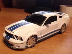 Tektonten Papercraft - Free Papercraft, Paper Models and Paper Toys: 2008 Mustang GT500 Papercraft