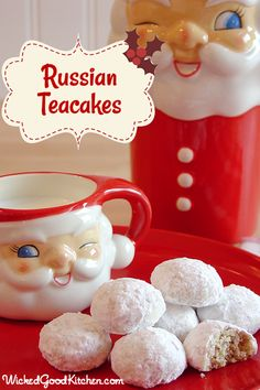 Russian Teacakes by WickedGoodKitchen.com #Christmas #cookie #recipe