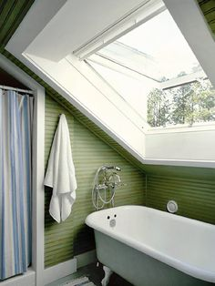 Skylight - great solution to wanting lots of natural light, but still need privacy in the bathroom dilemma