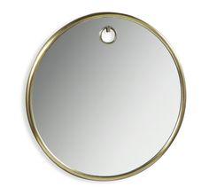 Bella Circular Mirror in Antique Brass design by Interlude Home