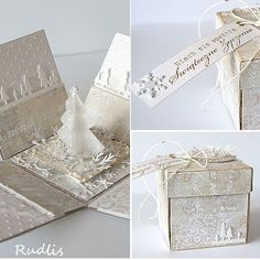Tone on tone box card, elegant.  love, life and crafts Rudlis: My top cards