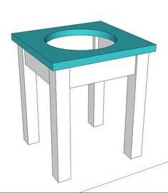 diy furniture diy single bowl raised pet feeder
