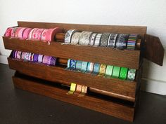 Thank you my lovely bf for doing this for me :)  Masking tape storage, handmade and unique <3