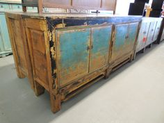 Antique Chinese Storage Credenza in Distressed by ModernRedLA, $2299.00