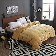WYQLZ Solid Color Einzelstück Flanell Quilt Cover Herbst und Winter Keep Warm Home Quilt Cover ( Farbe : Gelb , größe : 150*200cm )