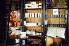 Zents, pillows, and candles galore! Stocked and ready for guests to enjoy at the Denver Flea