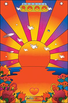 Sunrise 2000 : - Official Peter Max Site! Gallery Shows, Poster Shop & More! -