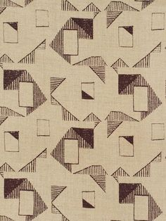 Trocadero in Bordeaux // Thomas Callaway for Holland & Sherry #textiles #fabric #linen #geometric #brown