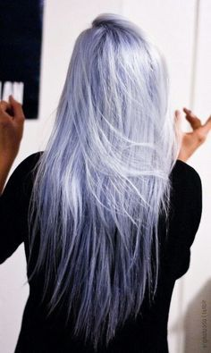 pastel silver lavender hair - Google Search