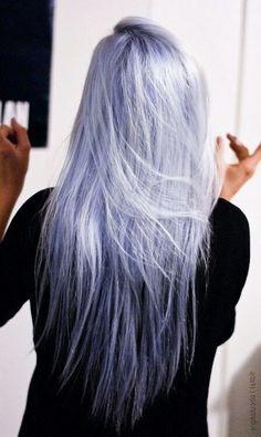 pastel silver lavender hair - Google Search