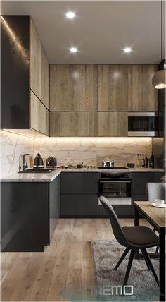 Minimal Kitchen Design, Kitchen Room Design, Minimalist Kitchen, Design Studio, Küchen Design, Home Design, Layout Design, Farmhouse Kitchen Decor, Home Decor Kitchen