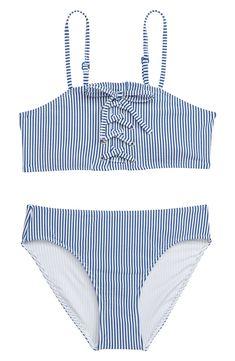 2be551eb52b87 Tucker + Tate Stripe Two-Piece Swimsuit (Big Girls)   Nordstrom