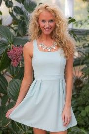 Star Of The Show Dress-Mint