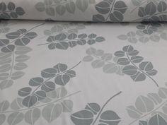 Altezza 180 cm Composizione: 100% #cotone. #Tessuto per #tovagliato firmato Bottaro. Sfondo bianco con stampati rami di #foglie stilizzati nelle diverse nuance di #grigio. Per donare raffinatezza ed eleganza alla tua #tavola.