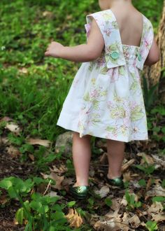 gingham and floral dress back