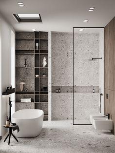 Hotel Bathroom Design, Bathroom Inspo, Modern Bathroom Design, Bathroom Inspiration, Hotel Bathrooms, Bathroom Toilets, Small Bathroom, Modern Interior, Home Interior Design