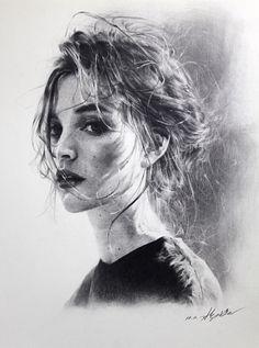 박지훈 연필드로잉 / 스튜디오 슬릭 / 부산 소묘 portrait in 2019 рисование портретов, карандашн Portrait Sketches, Pencil Portrait, Portrait Art, Art Sketches, Life Drawing, Drawing Faces, Painting & Drawing, Sketch Drawing, Drawing Women