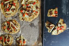 Pizza gluten free with mushrooms