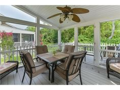 Screened porch decor from the Rhonda Frick Team