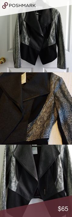 53be12b6097 Patrizia Luca Milano Multi Media Zip Jacket SZ S NWT Very sophisticated  style Patrizia Luca Milano