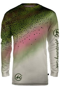 FINNY RAINBOW TROUT Long Sleeve Fishing Shirt