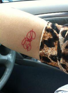 #red #tattoo