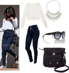"""""""style steal: selena gomez"""" by lilliannkate on Polyvore"""