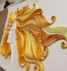 Paper quilling | Aura by Hemali Vadalia, via Behance