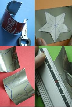 Upcycling - aluminum cans to stars... :)