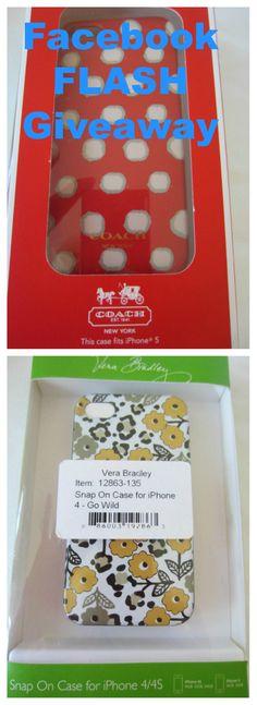 #COACH iPhone 5 or Vera Bradley iPhone 4/4S Case (Winner's Choice)  Facebook FLASH https://www.facebook.com/StyleDecorMore/photos/a.186800684703506.62716.186732514710323/720404428009793/?type=1&stream_ref=10