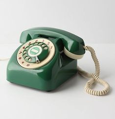 Above: Anthropologie Vintage Rotary Telephone; available in blue, green, orange, and yellow