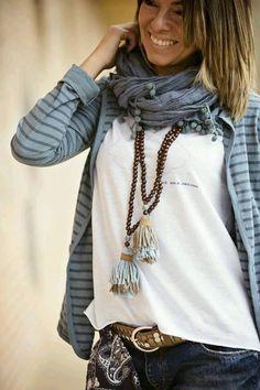 Recicla un collar de cuentas y conviertelo en trendy