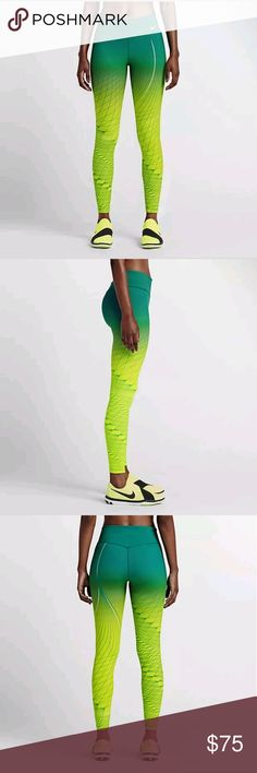 Women's Nike Power Legendary Printed Mid Rise pnts With a print inspired by this summer's competition, the Nike Power Legendary Women's PrintedMid Rise Training Tights are designed to hug your legs from hip to hem for maximum comfort and support. Flat seams feel smooth against your skinPocket at waistband for storing small itemsFabric: Body: Dri-FIT 80% nylon/20% spandex. Gusset lining: Dri-FIT 100% polyester. Inside waistband: 81% polyester/19% spandex. Nike Pants
