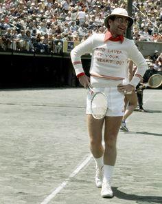 Elton John as a tennis player