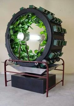 #Aquaponic spinning #wheel. Wow! Yes interesting sci fi proto type for a massive space station