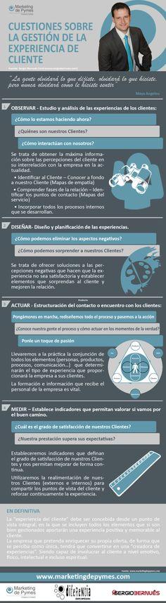 Cuestiones sobre la Gestión de Experiencia de Cliente #infografia #infographic #marketing