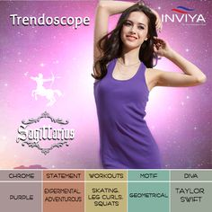Ever encountered a girl with a fashion statement that makes you look twice? She is probably a #Sagittarius! #INVIYA salutes the uniqueness of a true #Sagi! #Trendoscope