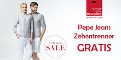 Gratis Pepe Jeans Zehentrenner bei OUTLETCITY.COM #gutscheinlike #sale #rabatt #outletcity #jeans #gratis #zehentrenner