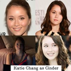 """Katie Chang would be perfect for Cinder. I have never seen one of her movies but she has the looks (except for the Chinese part bc in the bk, cinder is """"European""""/lunar but that doesn't matter) I bet she can play the part"""