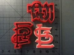 St. Louis Cardinals Cookie Cutter Set by JBCookieCutters on Etsy