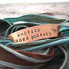 Embrace Your Journey Bracelet copper bar Tiki Bar by riskybeads