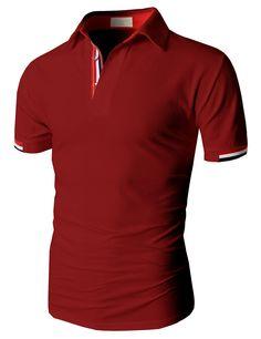 dc402b8ca96 Doublju Fashion Pique Cotton Polo Shirts with Short Sleeve. santiago  rodriguez · camisetas polo